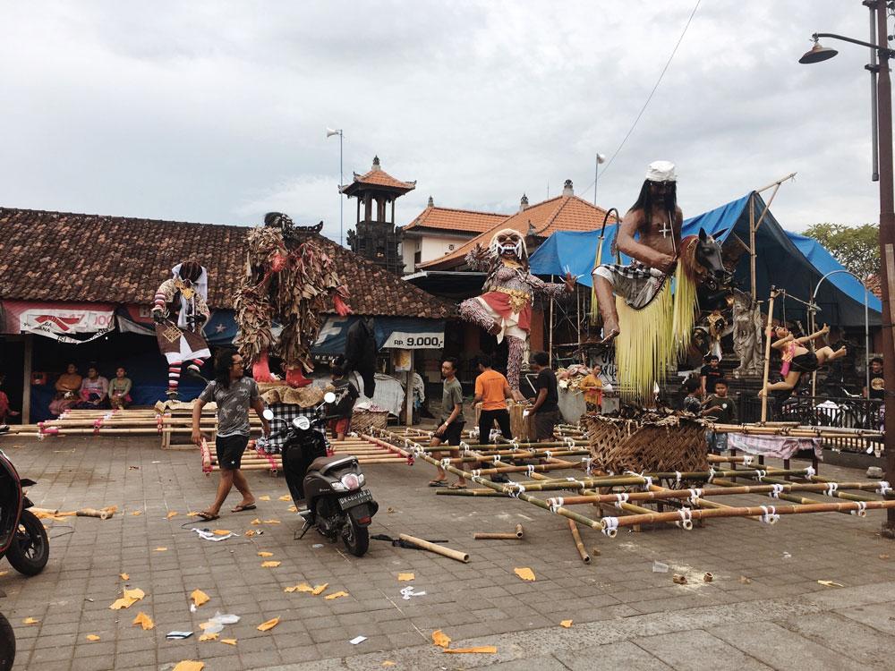 Nyepi preparations